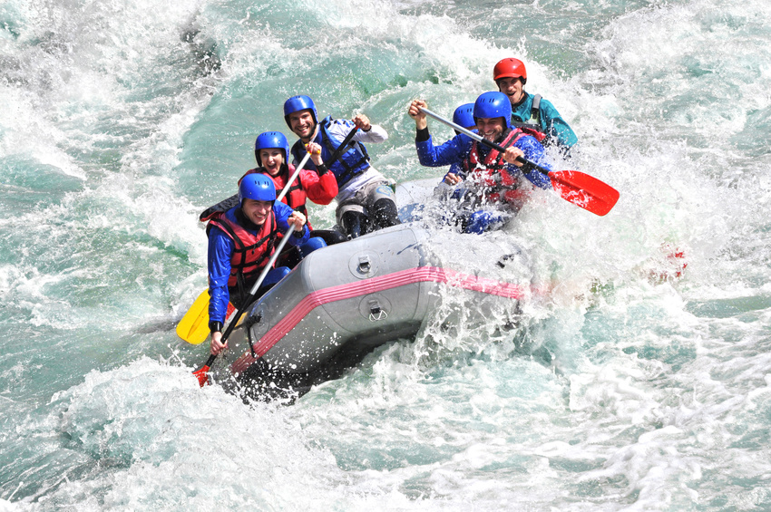 Rafting in Tirol with the Basecamp Crew