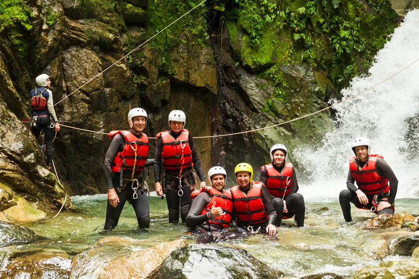Canyoning in Paznaun bei Landeck, Basecamp Tirol