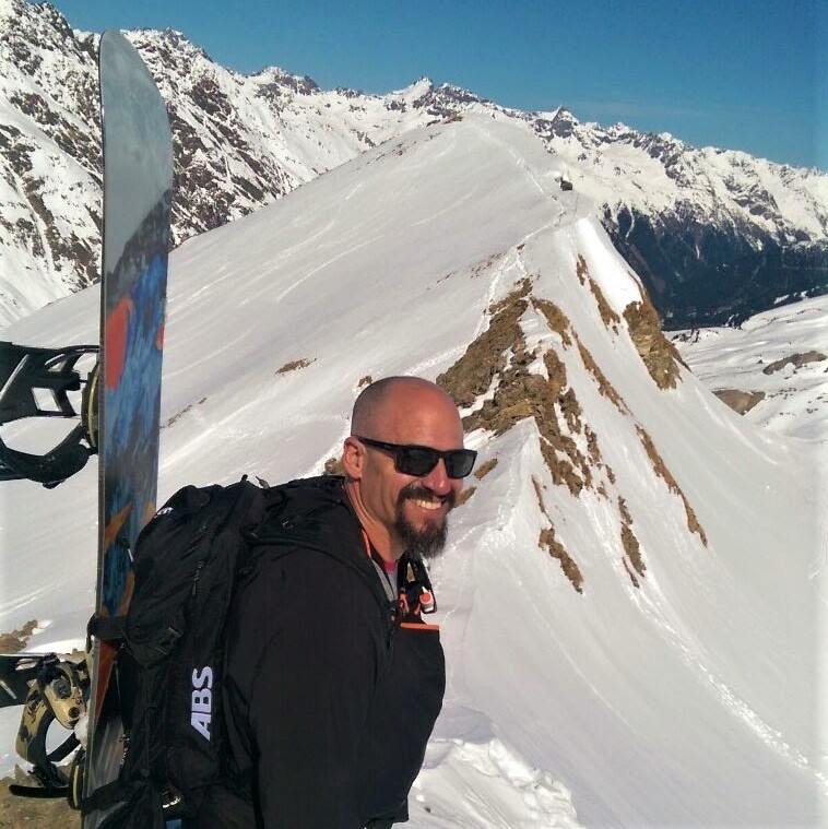 Hiking for powder, back country, Piz Val Gronda, Ischgl